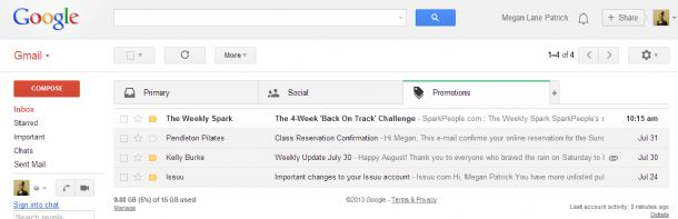 how to change back to old gmail
