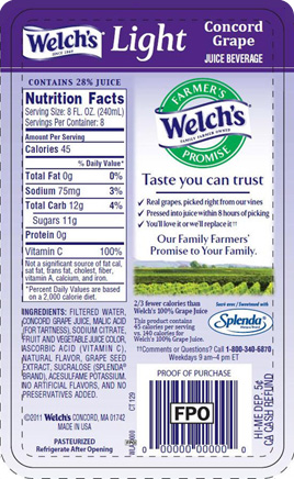 Welch's Light Concord Grape Juice Beverage