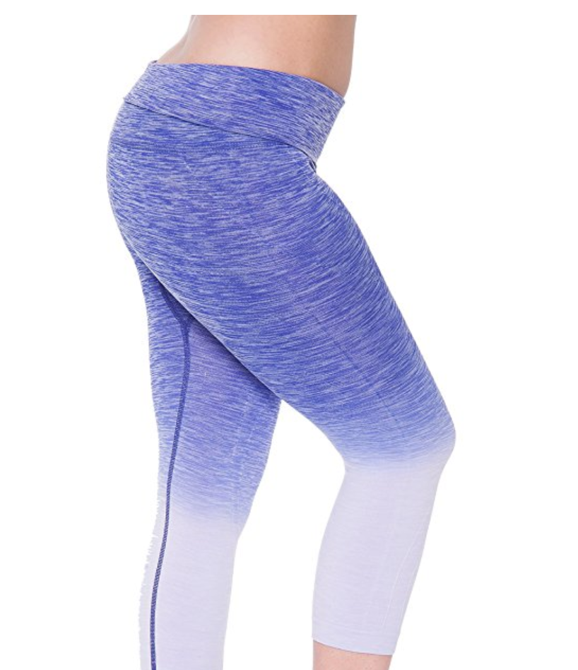 f80e99dbb0ac66 Unique Styles Ombre Fold-Over Waistband Leggings (from  12.99)  Made from a  stretchable compression material