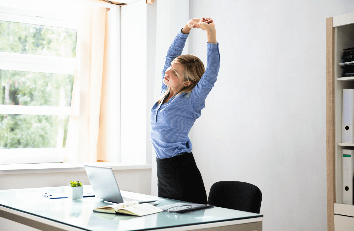 Add This Energizing Full-Body Stretch Routine to Your Workday