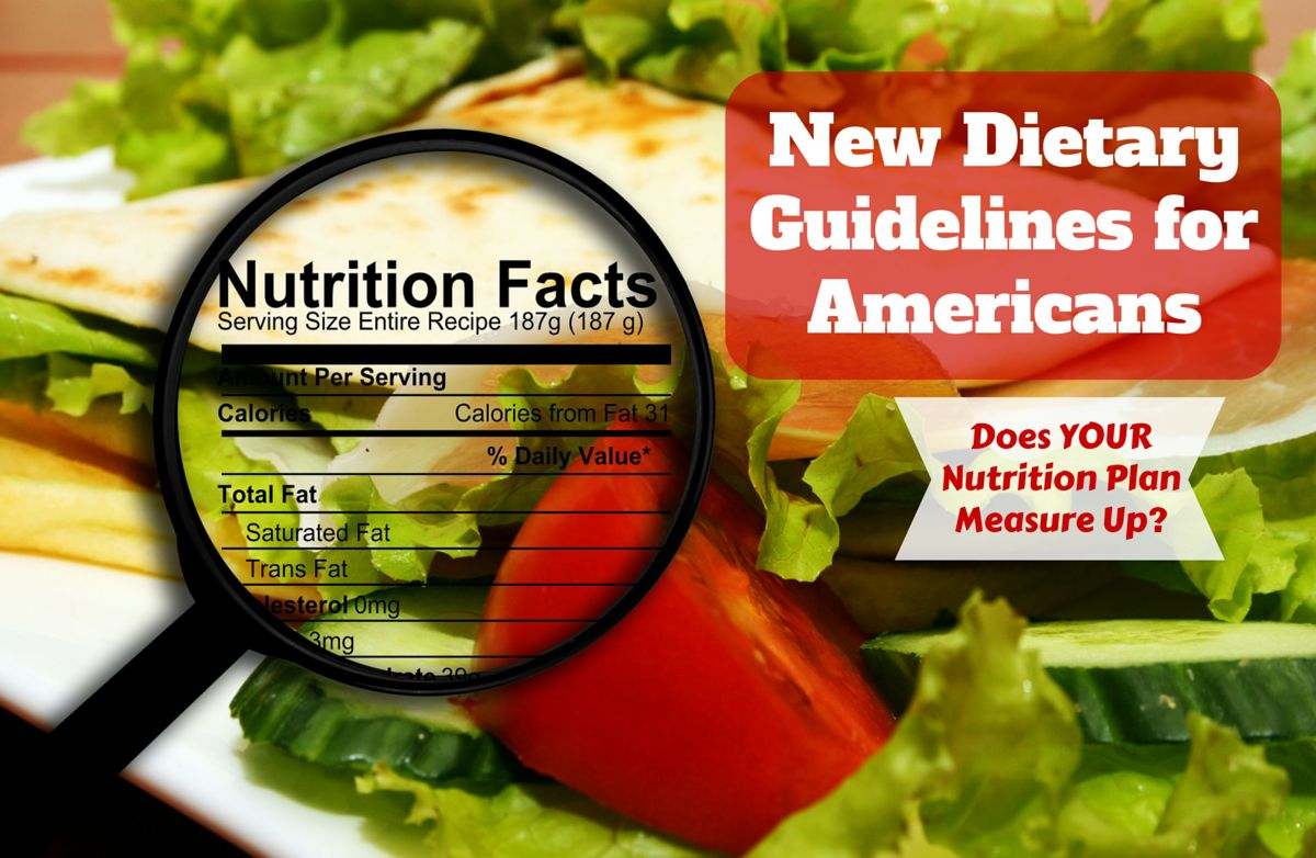 New Dietary Guidelines Released by USDA