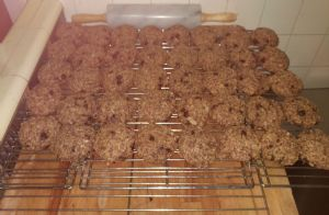 Oatmeal / coconut / chocolate chip cookies
