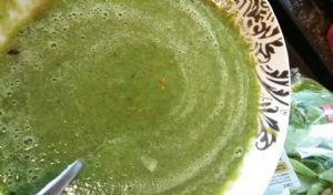 V. Low cal super green gazpacho