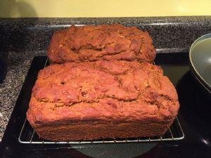 Pumpkin Bread (lower sugar, lower fat, & whole wheat) - 2 loaves