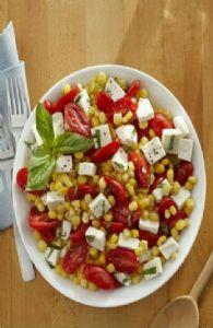 Summer Corn, Tomato, and Mozzarella Salad