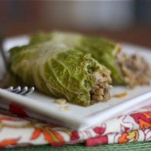 Asian Stuffed Napa Cabbage Rolls - 3 WW Smart Points