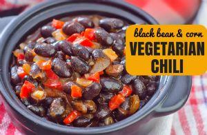 Black Bean and Corn Vegetarian Chili