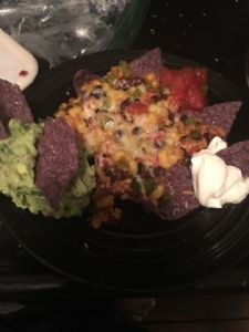 Black bean nachos or taco filling