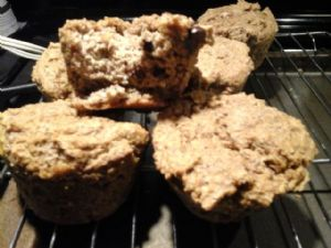 Carries's low carb pumpkin chocolate chip muffins