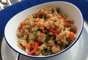 Chicken Fried Rice (brown rice)