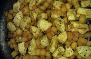 Chicken Rutabaga Hash