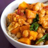 Chickpea Coconut Curry with Sweet Potatoes for the Slow Cooker