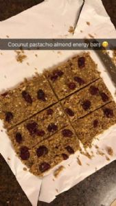 Shelby's Coconut Pistachio Almond energy bars