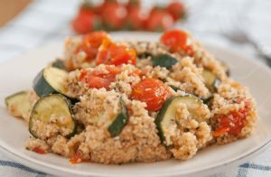 Couscous With Ground Turkey and Veggies