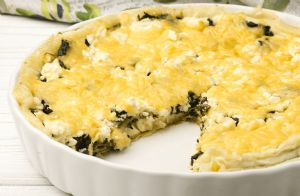 Crustless Spinach, Onion and Feta Quiche