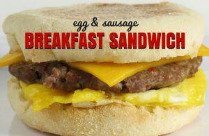 Egg & Sausage Breakfast Muffin Sandwich
