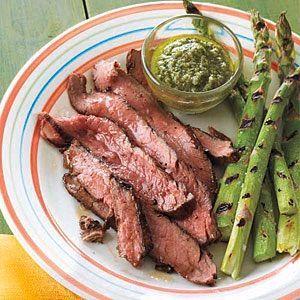 Flank Steak with Salsa Verde