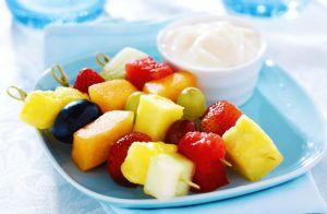 Fruit Kabobs with Coconut Yogurt Dip