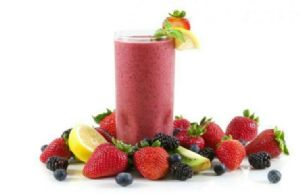 Fruit and vegetable smoothie with protein