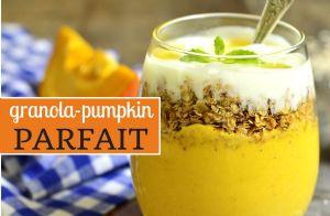 Granola-Pumpkin Parfait