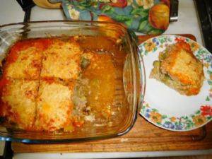 Grilled beef and pork casserole