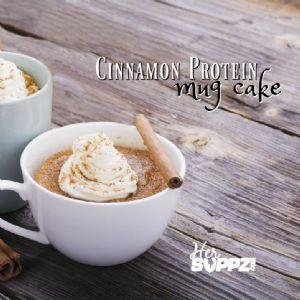 HerSUPPZ Cinnamon Roll Mug Cake with Protein