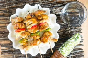 Korean BBQ Chicken Kebabs