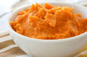 Maple-Mashed Sweet Potatoes