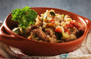 Mediterranean Chicken with Rosemary Orzo