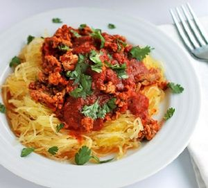 Circle of Surrender Low Carb Spaghetti and Sicilian Meat Sauce