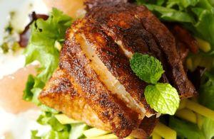 Pan-Seared Tuna with Olive-Wine Sauce RECIPE
