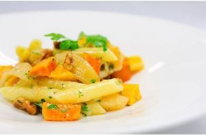 Pasta with Butternut Squash & Sage Brown Butter