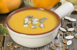 Pumpkin Soup with Toasted Pumpkin Seeds