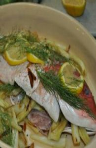 Red Snapper with Fennel & Garlic
