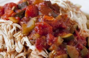 Slow Cooker Marinara Chicken and Vegetables