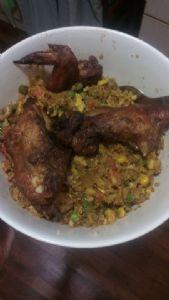 Spicy Cauliflower Chicken Fried Rice