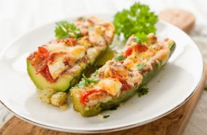 Stuffed Baby Zucchini for Two