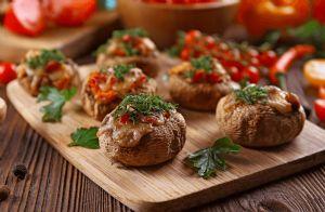 Stuffed Portobello Mushrooms on the Grill