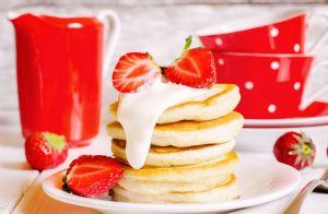 Sunday Morning Strawberry Pancakes