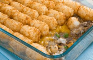 Tater Tot and Ground Turkey Casserole