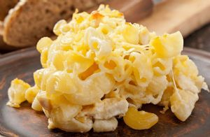 Three Cheese Chicken Macaroni Casserole