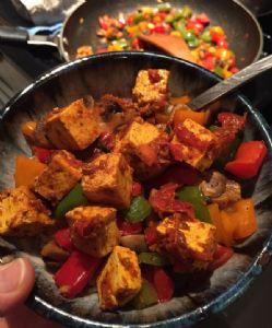 Tofu and Veggies in Turmeric Paste