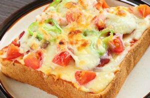 Vegetarian Pizza Toast RECIPE
