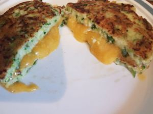 Zucchini Grilled Cheese Sandwich