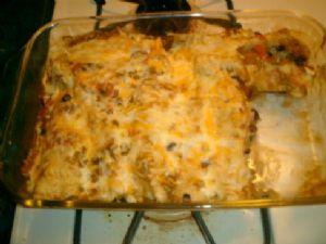 Sweet Potato and Black Bean Enchilada