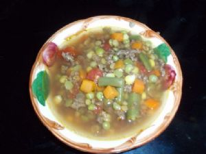 Kristin's Vegetable Beef Soup with Lentils (1 cup/serving)