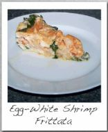 Egg White Frittata with Shrimp and Spinach