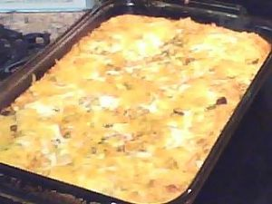 Low Fat -Low Carb Chicken-Chili Relleno Casserole