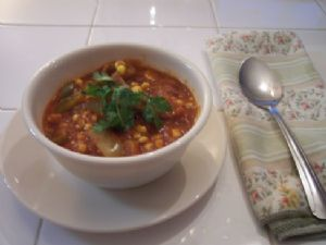 Lindy's Pepper and Corn Vegetarian Chili