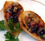 Tomatoe Eggplant Bruschetta
